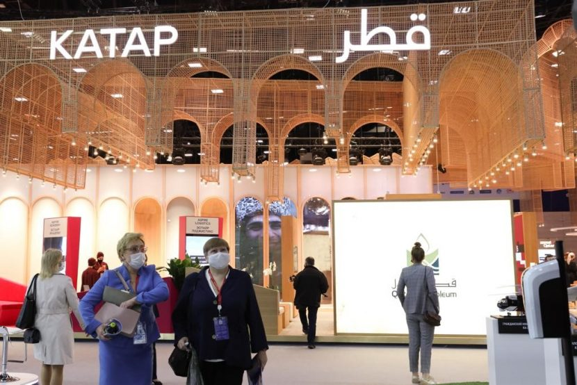 qatar pavilion at SPIEF russia